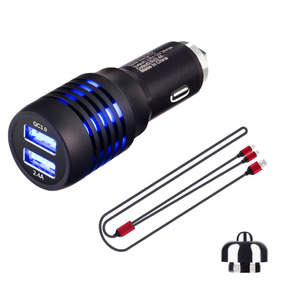 Car Charger With Dual Usb Port And Stainless Steel E -metal