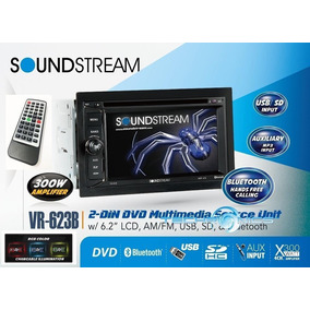 Estereo Soundstream Vr623b Pantalla 6.2 Bluetoth Usb Aux Mp3