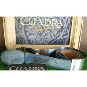 Cinturon Vaquero Cuadra Cvqr1a Avestruz Blue Jeans