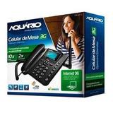 Ca-40 Telefone Celular Rural 3g De Mesa Aquario 5 Bandas Sms