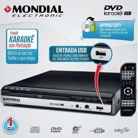 Dvd Player Mondial D-15 Com Karaokê, Usb E Ripping + Microfo
