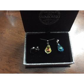 3 Colgantes Joyas Cristales Swarovsky Element Más Cadena