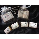 Souvenir 3 Chocolatitos Personalizados Bolsita Conbrillitos