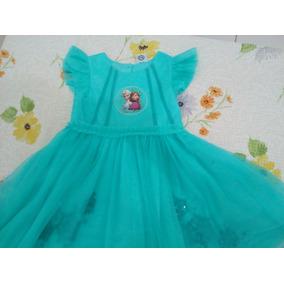 Vestido Infantil Tam 8, Frozem Semi Novo