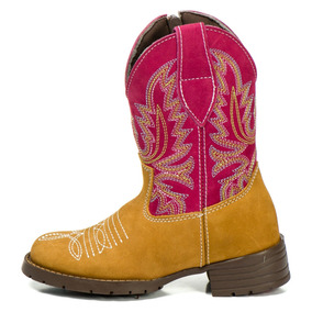 Botina Infantil Masculina Bota Country Kids Texana Couro