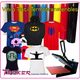 Vinilo Textil Termotransferible 0,50x1 Mts. Estampar Traker