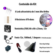 Kit Led P/ Armadilha De Mosquito Led+resistor+fonte+conector