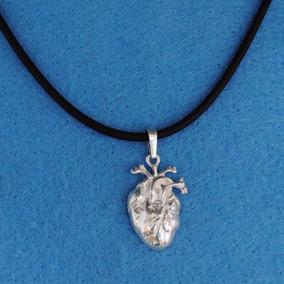 Dije Corazón Anatómico Con Arterias Plata Ley.925 E51