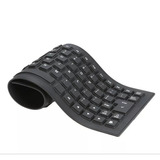 9 Teclados Flexível Silicone Resistente Agua Usb P/pc Not