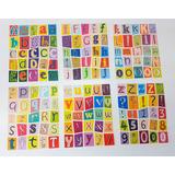 Adesivo Alfabeto E Numerais Escolar Infantil Letras