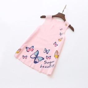 Vestido Con Mariposas Para Niña Formal/casual. Dis. 22 Oct