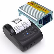 Impressora Portátil Bluetooth Celular + Carregador Veicular