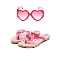 Tamanco Rasteiro Infantil Feminino Barbie Com Brinde Óculos