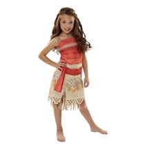 Disfraz Talla 4 A 6 Años Disney Moana Niña Entrega Inmediata