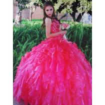 Vestido Quince Años Color Coral