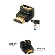 Extensao Cabo Hdmi Adaptador Emenda Plug Conector Fixo 90°