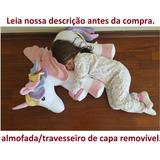 Almofada Unicórnio Amamentação Branco 65 Cm Bebê 2 Partes