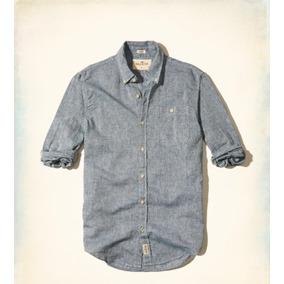 Camisa Hollister Textured Linen Shirt Nueva