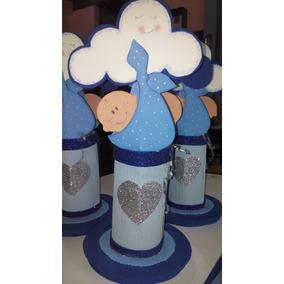 Centro De Mesa Baby Shower Nacimiento + Servilletero