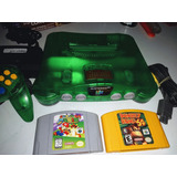 Consola Nintendo 64 Verde Original 2 Juegos Envió Gratis.