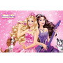 Painel Decorativo Festa Infantil Barbie Pop Star (mod5)