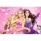 Painel Decorativo Festa Infantil Barbie Pop Star (mod5)