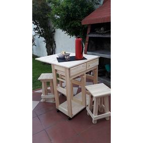 Mesas plegables de pino 130 todo para cocina en for Mesa auxiliar cocina plegable