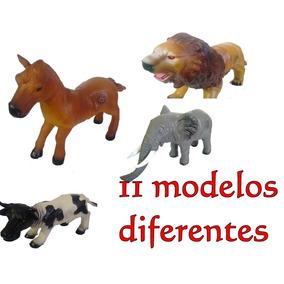 Dinossauro Vaca Cavalo Elefante Grande Borracha Emite Som