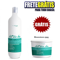 Escova Let Me Be Progressiva Sem Formol + Biorestore 250gr
