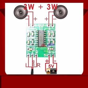 Módulo Amplificador Audio 3wx3w Para Proyectos, Arduino, Arm
