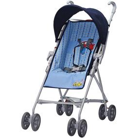 Carrinho De Bebê Modelo Guarda Chuva - Azul (12x Sem Juros)