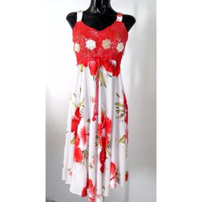 Vestido Floreado Unitalla Floral Crochet