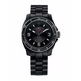 Reloj Tommy Hilfiger Dama Acrílico Negro