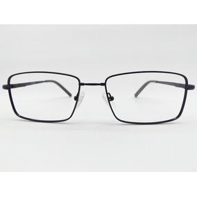 Armação Óculos Titanium Flexível Preto Rosto Largo 7106 C1 d65b6cbfd3
