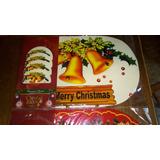Set 4 Manteles De Navidad Con Portavasos