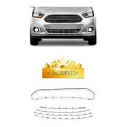 Kit Friso Grade Radiador Ford Ka 2013 A 2016 Cromado 5 Peças