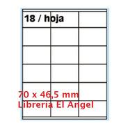 Papel Autoadhesivo A4 100 Hojas Etiquetas 4118 70 X 46,5mm