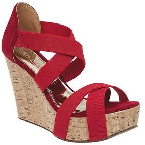 Sandalia Para Dama Been Class 557 Tacon 10cm Rojo*