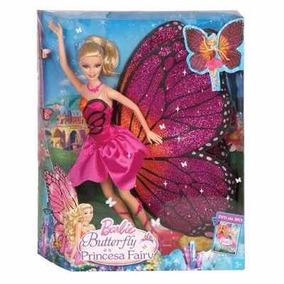 Barbie Butterfly Princesa Fairy Asas Grandes Mattel Bgx42