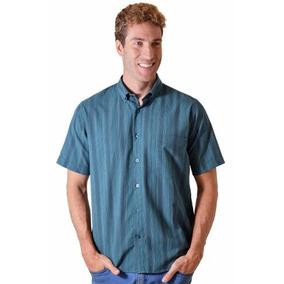Camisa Casual Manga Curta Algodão Fácil Passar Varias Cores