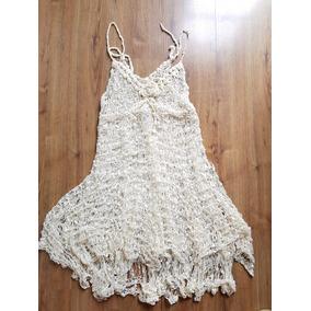 Vestido De Croche Linha Seda Tam M
