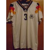 Camiseta Fútbol Selección Alemania Euro 1992 92 Brehme #3 M