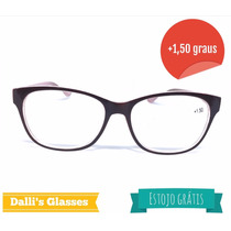 Óculos Para Leitura +1,50 Grau 1 Estojo Grátis