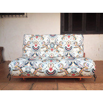 Sofá-cama Japonês Casal - Futon Duas Faces - Madeira Maciça