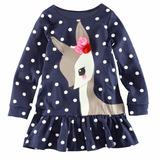 Vestido Infantil Manga Longa Poás Malha 5 Importado
