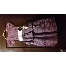 Hermoso Vestido Morado - Para Niña Talla 8