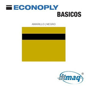 Plástico Bicapa Laserable Econoply Amarillo / Negro 60x40cm