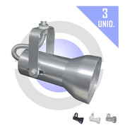 Kit 3 Unid Spot Para Trilho Iluminação Focal - Soft Par20