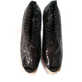 Zapato/botin, Negro Lentejuela, Nina Europa, Talla 38 Medio