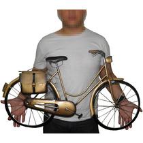 Bicicleta Quadro 3d Para Parede Em Metal Decoracao Enfeite